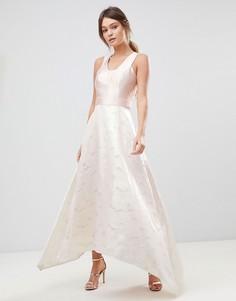 Платье макси с эффектом металлик Coast - Кремовый