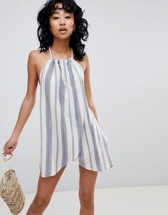 Пляжное платье в полоску ASOS DESIGN - Мульти
