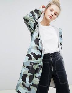 Длинная камуфляжная куртка Rains - Мульти
