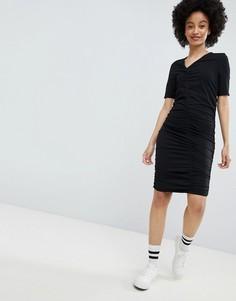 Платье со сборками Monki - Черный