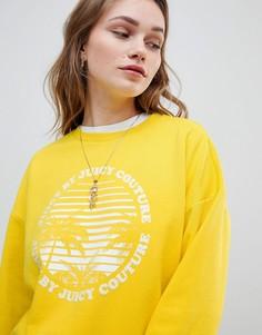 Свитшот с логотипом и принтом Juicy By Juicy Couture - Желтый