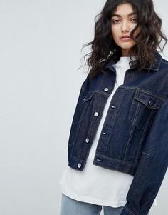 Темная джинсовая куртка Weekday - Синий