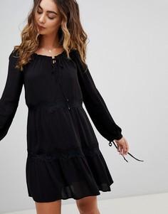 Платье с завязками на рукавах Pepe Jeans Ander - Черный