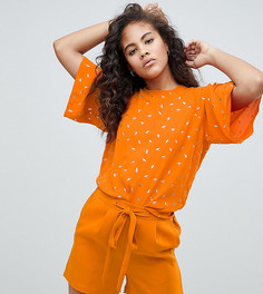 Блузка с принтом Y.A.S Tall - Оранжевый