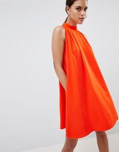 Свободное платье с высоким воротом Y.A.S - Оранжевый