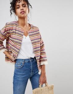 Куртка-пончо в полоску Pepe Jeans Clemence - Красный