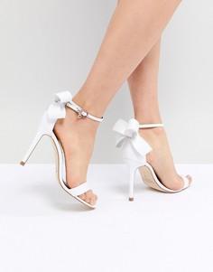 Белые кожаные сандалии с бантиками Ted Baker Sandas - Белый