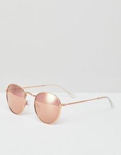 Круглые солнцезащитные очки Monki - Коричневый