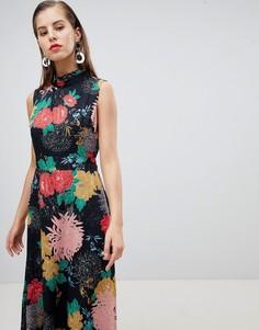 Платье макси с цветочным принтом Uttam Boutqiue - Мульти