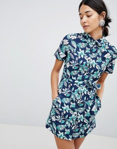 Платье на пуговицах с цветочным принтом Uttam Boutique - Мульти