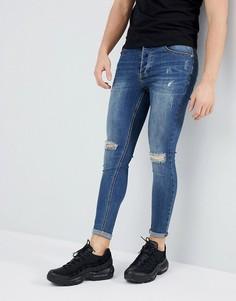 Синие обтягивающие джинсы Kings Will Dream - Синий