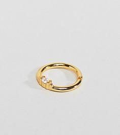 Серебряное кольцо для носа с позолотой из 18-каратного золота Regal Rose - Золотой