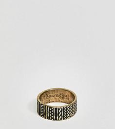 Золотистое кольцо с ацтекским орнаментом ASOS DESIGN Plus - Золотой