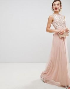 Платье макси из тюля Frock & Frill - Розовый