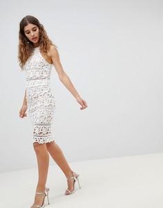 Комбинируемая кружевная юбка New Look - Кремовый
