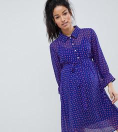 Чайное платье в горошек Mamalicious - Мульти Mama.Licious
