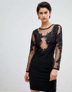 Платье мини с вышивкой Forever Unique - Черный