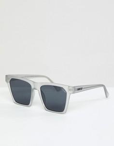 Солнцезащитные очки в белой квадратной оправе Quay Australia X Missguided Alright - Белый