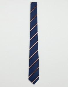 Темно-синий галстук в полоску Jack & Jones - Темно-синий