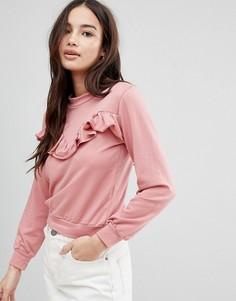 Свитшот с оборками Glamorous - Розовый