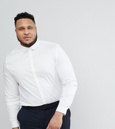 Белая сатиновая рубашка ASOS Wedding - Белый