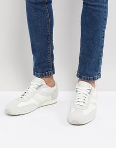 Белые кроссовки из нейлона и замши BOSS - Белый