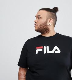 Черная футболка с крупным логотипом Fila Black Line PLUS - Черный