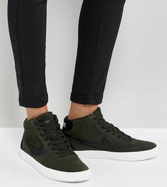 Высокие кроссовки цвета хаки Nike SB Bruin - Зеленый