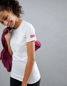 Обтягивающая спортивная футболка ASOS 4505 - Белый