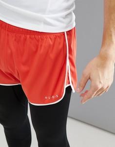 Шорты для бега с контрастной отделкой ASOS 4505 - Красный