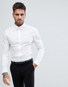 Белая обтягивающая рубашка New Look - Белый