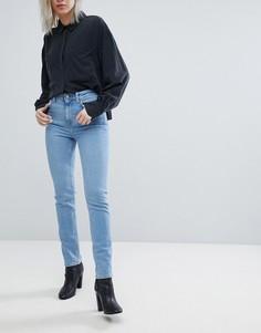 Синие выбеленные джинсы слим с завышенной талией Weekday Way - Синий