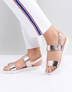 Золотисто-розовые сандалии в спортивном стиле RAID Nova - Золотой