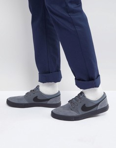 Серые кроссовки Nike SB Solarsoft Portmore II 880266-003 - Серый