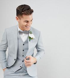 Эластичный пиджак узкого кроя из донегаля Noak Wedding - Синий