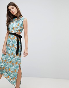 Платье миди с завязкой Three Floor - Мульти