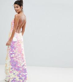 Платье макси на бретелях с отделкой пайетками A Star Is Born - Розовый