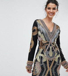 Декорированное платье мини с длинными рукавами A Star Is Born - Мульти