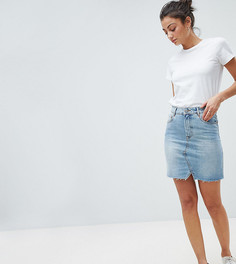 Голубая выбеленная джинсовая мини‑юбка ASOS DESIGN Tall - Синий