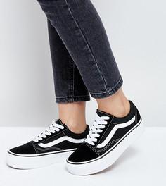 Черно-белые кроссовки на платформе Vans Old Skool - Черный
