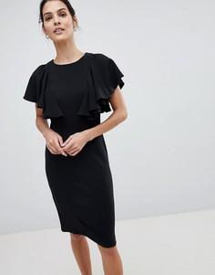 Платье с оборками Closet - Черный