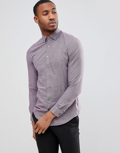 Приталенная рубашка в мелкую ломаную клетку Calvin Klein - Красный