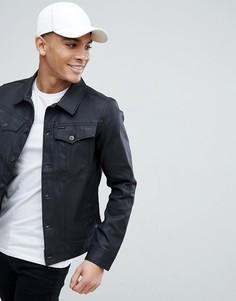 Узкая джинсовая куртка с покрытием G-Star BeRAW 3301 - Черный