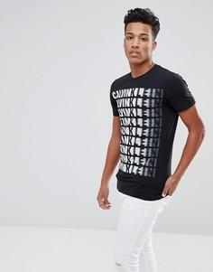 Узкая футболка Calvin Klein Tispeed - Черный