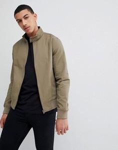 Куртка Харрингтон цвета хаки New Look - Зеленый