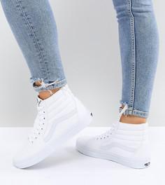 Белые высокие кроссовки Vans Classic Sk8 - Белый