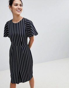 Платье-футляр в полоску Closet - Темно-синий