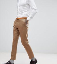 Узкие эластичные твидовые брюки с узором в елочку Heart & Dagger - Рыжий