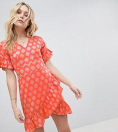 Жаккардовое платье мини с оборками Glamorous Tall - Розовый