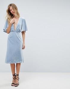 Платье миди с глубоким V-образным вырезом Isla Insurgency - Синий